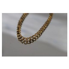 """Gold Filled - 7.25"""" - Traditional Curb Link Bracelet in Yellow Gold Filling"""