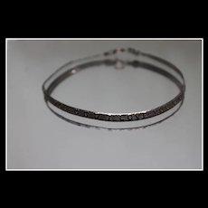 "925 - 7"" - Etched I Love You Herringbone Link Bracelet in Sterling Silver"