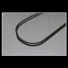 925 - Retro Aged Herringbone Necklace in Sterling Silver