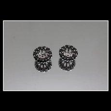 .950 - 1.00 ctw - Black Diamond Earring Jacket Enhancers for Studs in Platinum