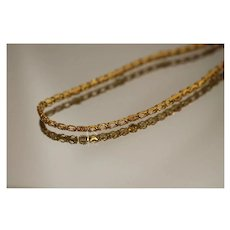 """22k 30.5"""" Ornate Asian Fancy Link Vibrant Chain Necklace in Bright, Rich Yellow Gold"""