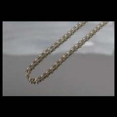 """14k -18"""" - Beaded Link Necklace with Alternating Pearls and Gold Beads in Yellow Gold"""