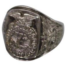 925 - Future Farmers of America FFA Vocational Agriculture Class Ring Style in Sterling Silver