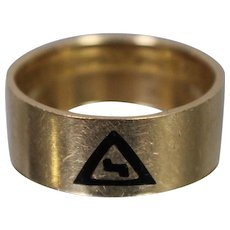 14 Karat Gold and Diamond Scottish Rite 32nd degree Masonic Ring