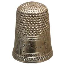 16k - Rare Karat Thimble w/ Engraving & Detail in Yellow Gold