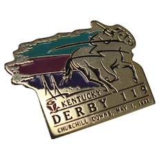 Kentucky Derby 119 @ Churchhill Downs Pin with Backing