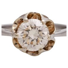 SALE 1.35 CT Diamond ring platinum