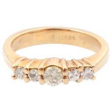 0.4 CT 5 diamonds ring gold 14k