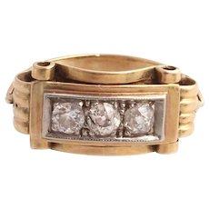 0.54ct Old cut diamond Art Deco ring 14k gold