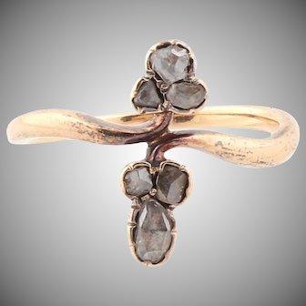 Antique 14k gold Old Cut Diamond Ring