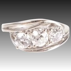 Antique 14k gold Old Cut Diamond Ring 0.9 ct