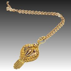 Rare antique 14k gold pendant Pendant Without Chain