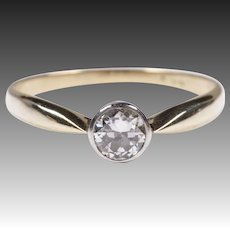 0.4ct Diamond ring platinum Gold