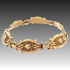 Antique 14k gold bracelet