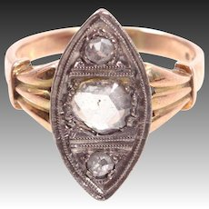 antique diamond ring Gold 14k