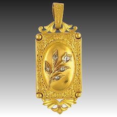 Rare antique 14k gold Gold diamond pendant