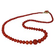 Fine natural red pacific aka Coral necklace