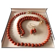 131.5 Gram To 11.5 mm Antique Coral Necklace coral bracelet coral earrings