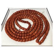 247 Gram Antique natural old coral necklace Old Coral Beads