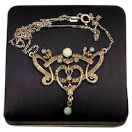 Antique necklace with Opal