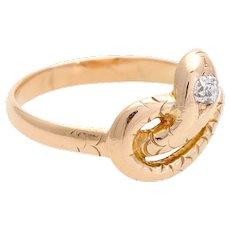 Victorian snake ring diamond gold