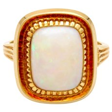 SALE Opal gold ring