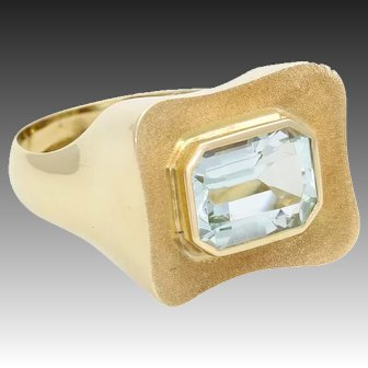 Aquamarine ring gold