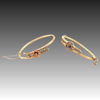 Antique victorian 8k gold bracelet bangle