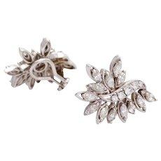 SALE Diamond earring ear clips