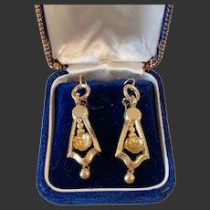 Antique victorian 14k gold earrings