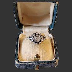 Antique ring rose cut diamonds 14k Gold