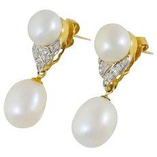 Elegant 18k gold sapphire diamond ring
