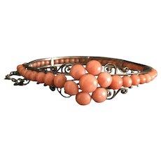Antique natural coral bracelet bangle 14.67 Gram
