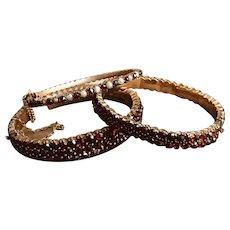 Whole Sale Antique Victorian Bohemian Garnet Bracelet Bangle