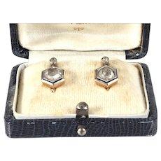 Antique diamond earrings gold