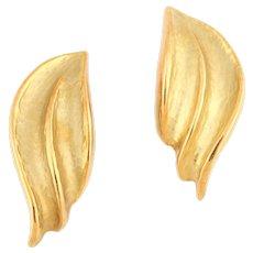 Large 18 karat gold ear clips