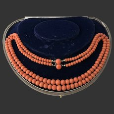 42 gr. Victorian Natural Coral Necklace