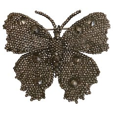 ''Stars for the nobility'' Cut Steel Collectors Item- Beautiful Butterfly Brooch- Georgian