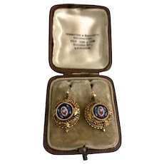 An Exquisite pair of fine Victorian Micromosaic Earrings
