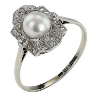 From The Shores Onto Your Fingers-Pearl and Diamond Ring