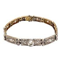 A Stunning Diamond Art Deco Bracelet Ca 1920-35