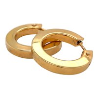 Vintage Every day Gold Hoop Earrings in 9ct Gold