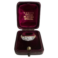 A Stunning Diamond Three Stone Diamond Engagement Ring with Old Pear Cuts and Old Round Cuts, Victorian Ca1860