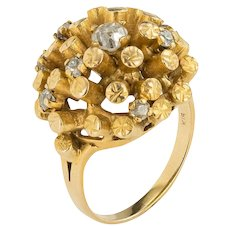 Retro 1970'S Diamond and Gold Ring in 18ct