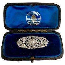 A Fine Platinum and Diamond Edwardian Brooch Ca1915