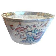 Circa 1890 waste  soft paste floral bowl