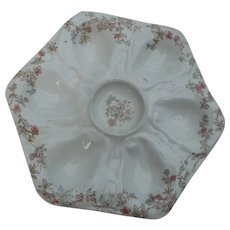 Circa 1910 6 well octagon shaped plate withfloral design