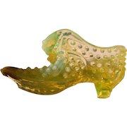 Victorian era Vasikine glass ladies slipper