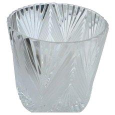 Vintage cut glass 5 inch tall ice bucket