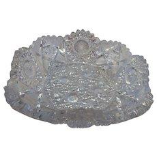 American brilliant period cut glass small dish